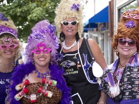 """Annual celebration honors traditional Baltimore """"Hon"""" women with their distinct beehive hairdos and colorful attire"""