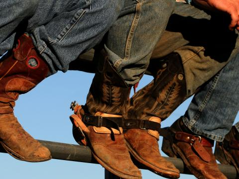 Cowboy boots on display at the Western Idaho Fair