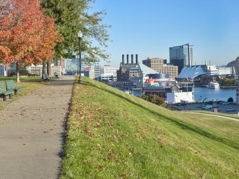 A beautiful fall day in Baltimore