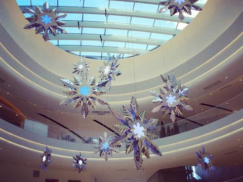 The halls are decked during holiday shopping at Mall of America