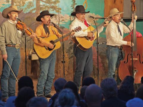 The Bar D Wranglers performing a music and comedy stage show