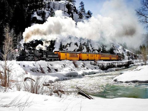 Mountain excursions aboard the Durango & Silverton Narrow Gauge Railroad train