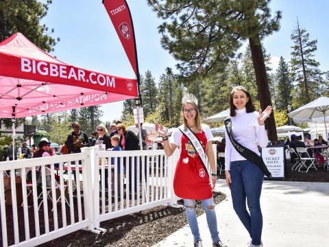 Pageant contestants during the Big Bear Grill & Chill weekend