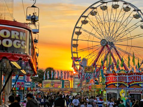The South Florida Fair in West Palm Beach, Florida