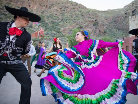 Traditional Mexican dance during Viva! El Paso in Texas
