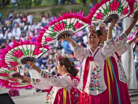 A cultural demonstration during the Columbus Asian Festival